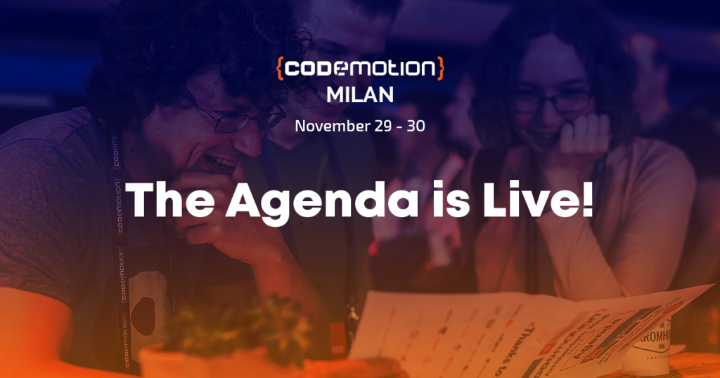 Conference   Codemotion Milan 2018